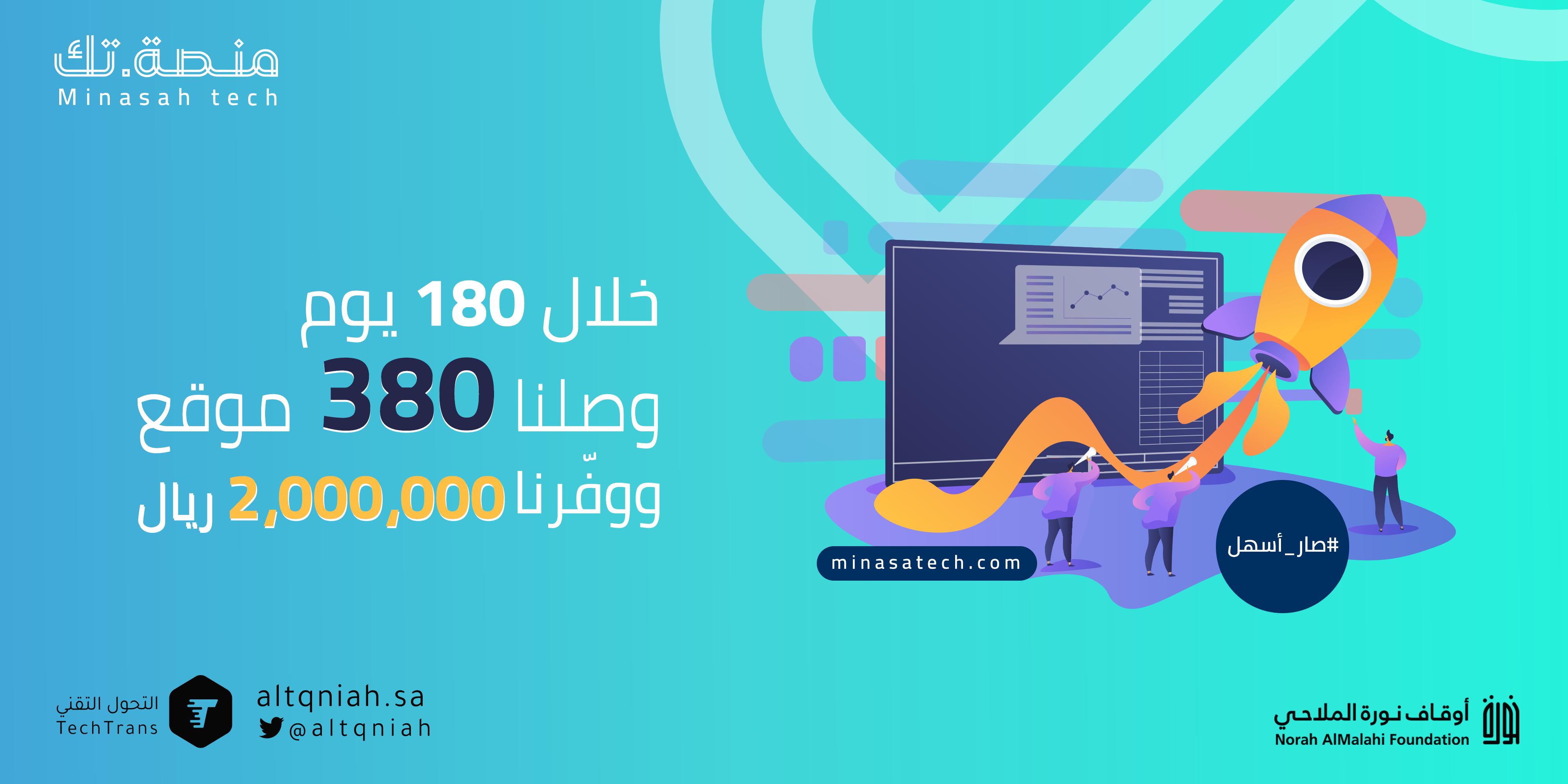 منصة تك الرقمية تصل إلى 380 موقع الكتروني في 180 يوم